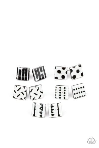 Starlet Shimmer Earring Kit - Square Black & White