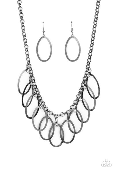 Double OVAL-time - Black