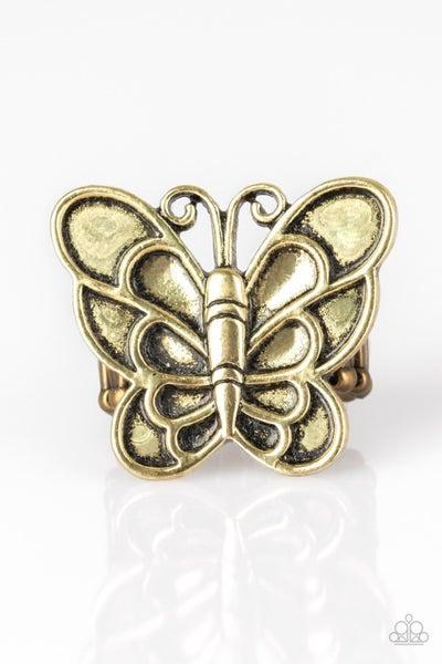 Sky High Butterfly - Brass