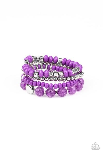 Layered Luster - Purple