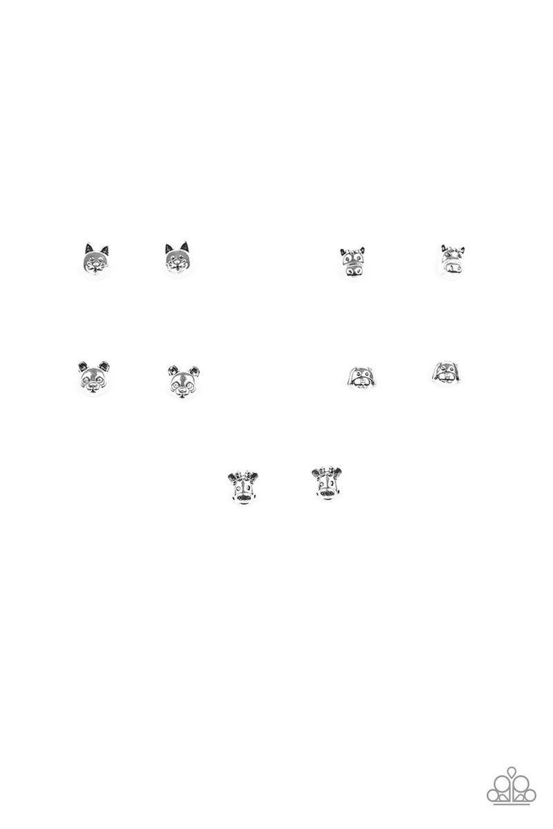 Starlet Shimmer Earring Kit - Silver Animals