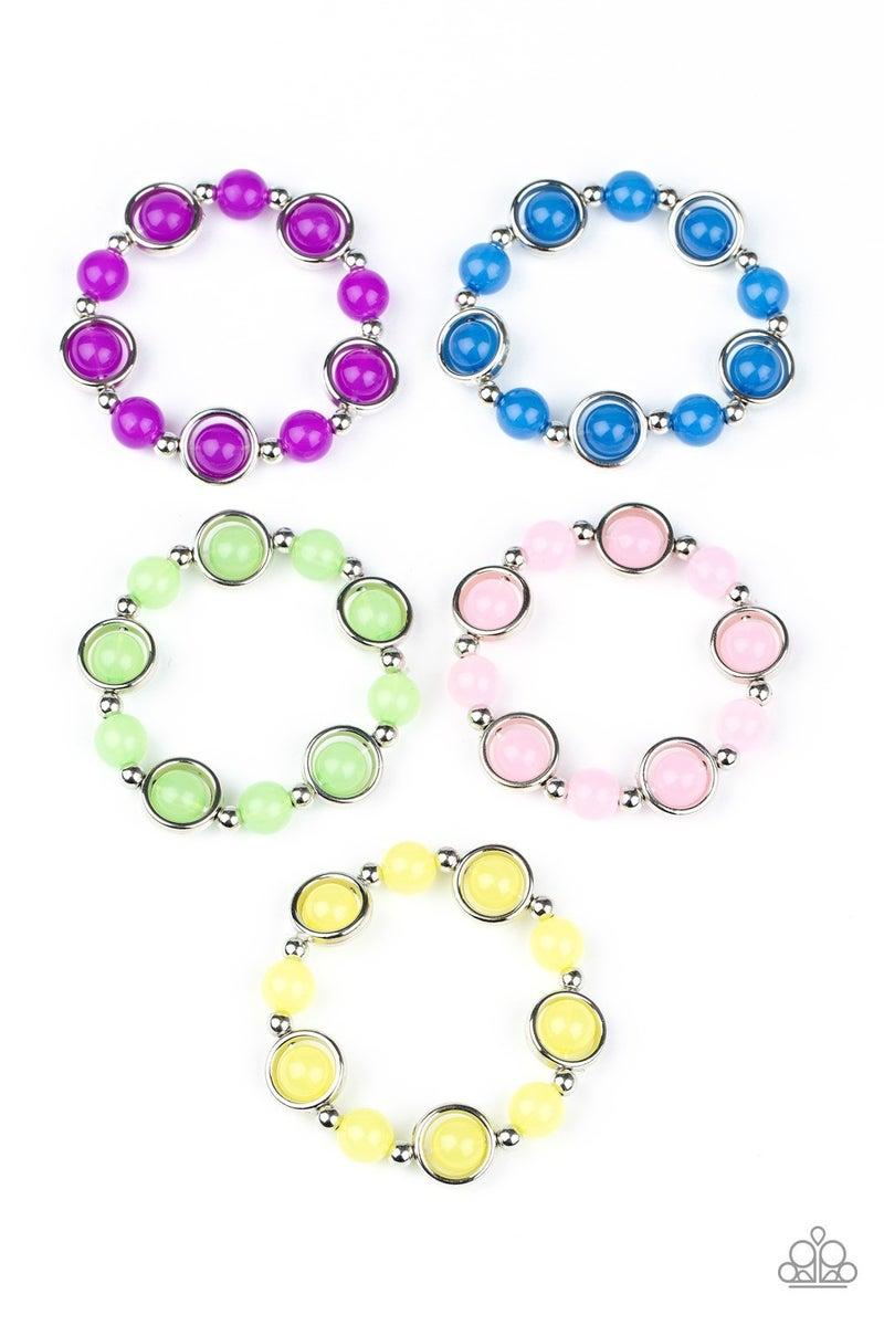 Starlet Shimmer Bracelet Kit - Silver Rings and Beads