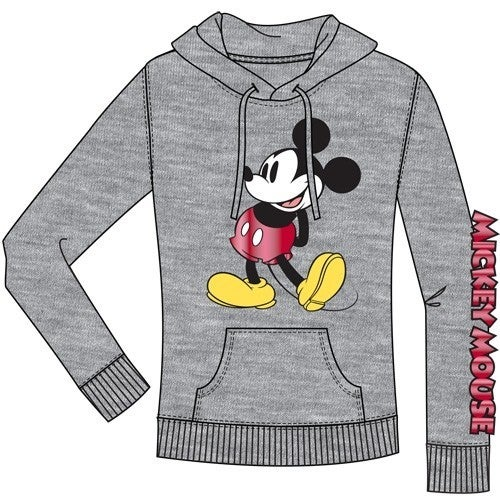 DISNEY Junior Hoodie Hey There Mickey, Gray