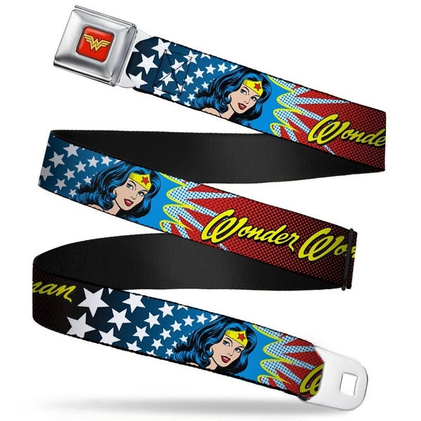 BUCKLE DOWN WONDER WOMAN SEATBELT BELT