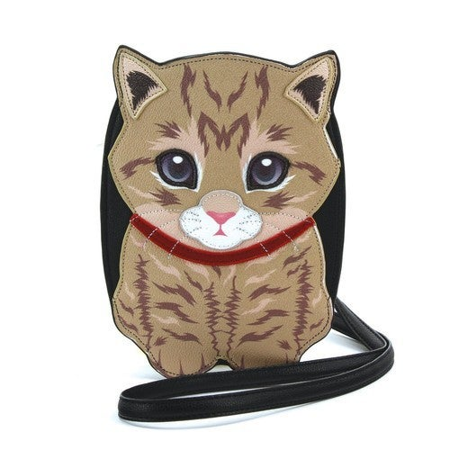 Tabby Cat Crossbody Bag in Vinyl Material