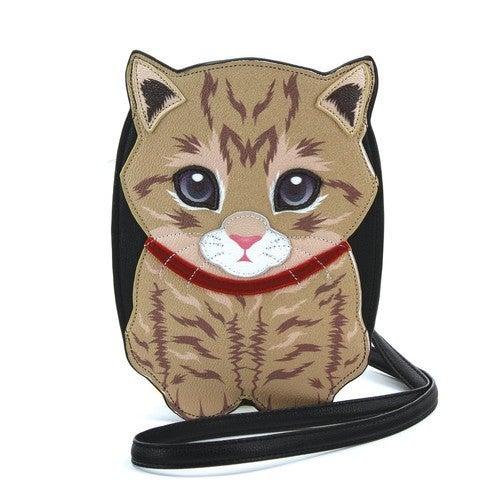 Tabby Cat Crossbody Bag in Vinyl Material