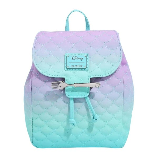 LOUNGEFLY DISNEY LITTLE MERMAID OMBER SCALES MINI BACKPACK