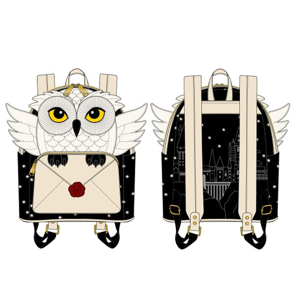 LOUNGEFLY HARRY POTER HEDWIG HOWLER MINI BACKPACK