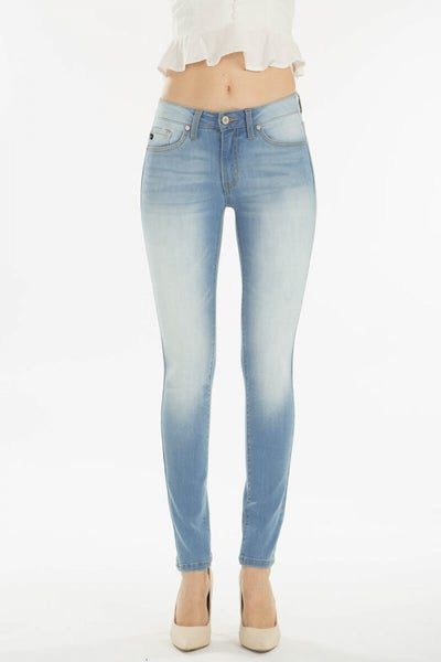 KanCan Mid Rise Super Skinny Light Wash