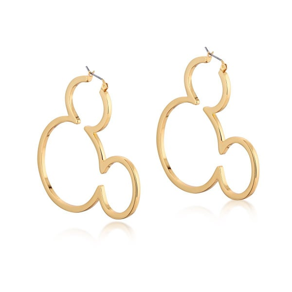 COUTURE KINGDOM Disney Mickey Mouse Outline Hoop Earrings - YELLOW GOLD