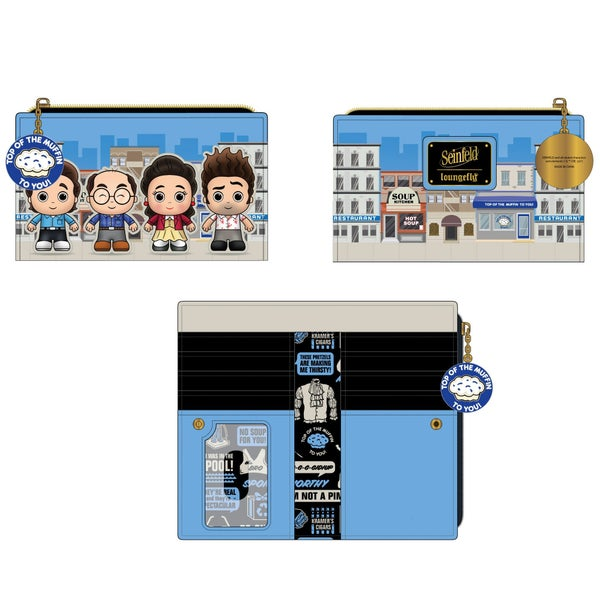 LOUNGEFLY SEINFELD CHIBI CITY FLAP WALLET (PRE-ORDER, JUNE 2021)