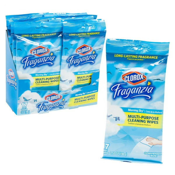 17ct Clorox Fraganzia Morning Sky Cleaning Wipes