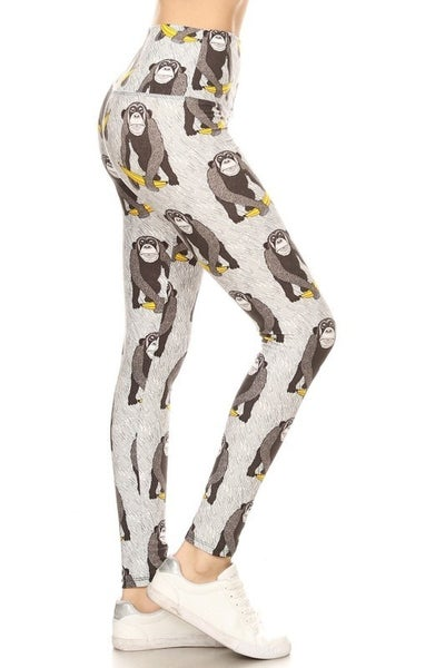GORILLA PRINT LEGGINGS