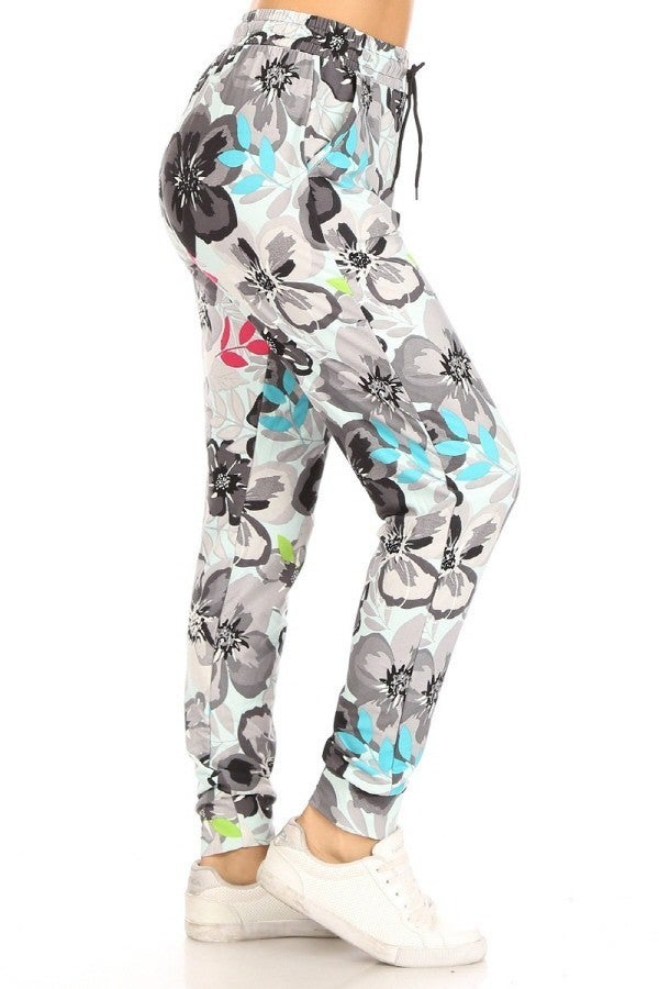 FLORAL BUTTERY SOFT JOGGERS