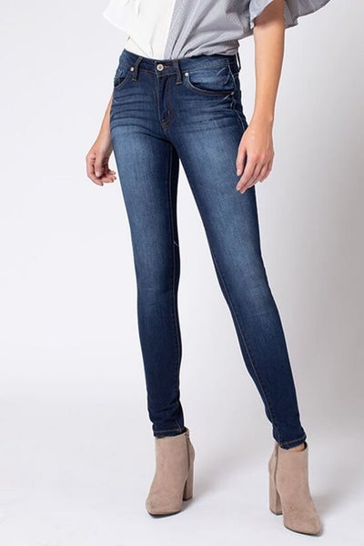KanCan Mid Rise Super Skinny Dark Wash