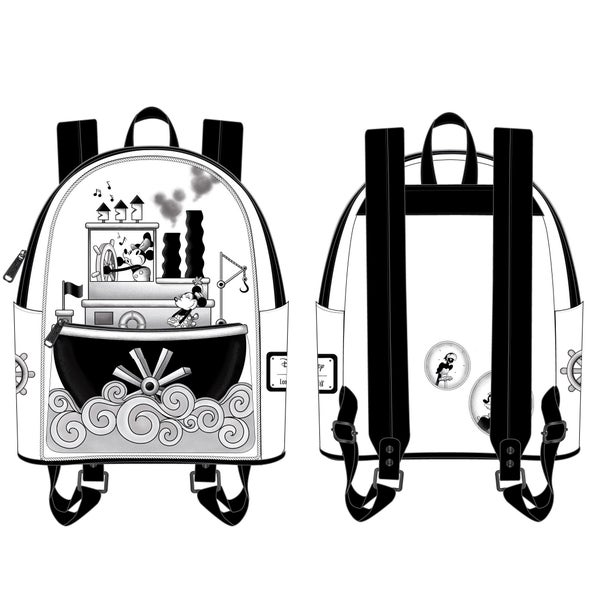 LOUNGEFLY DISNEY STEAMBOAT WILLIE MUSIC CRUISE MINI BACKPACK (PRE-ORDER, JUNE 2021)