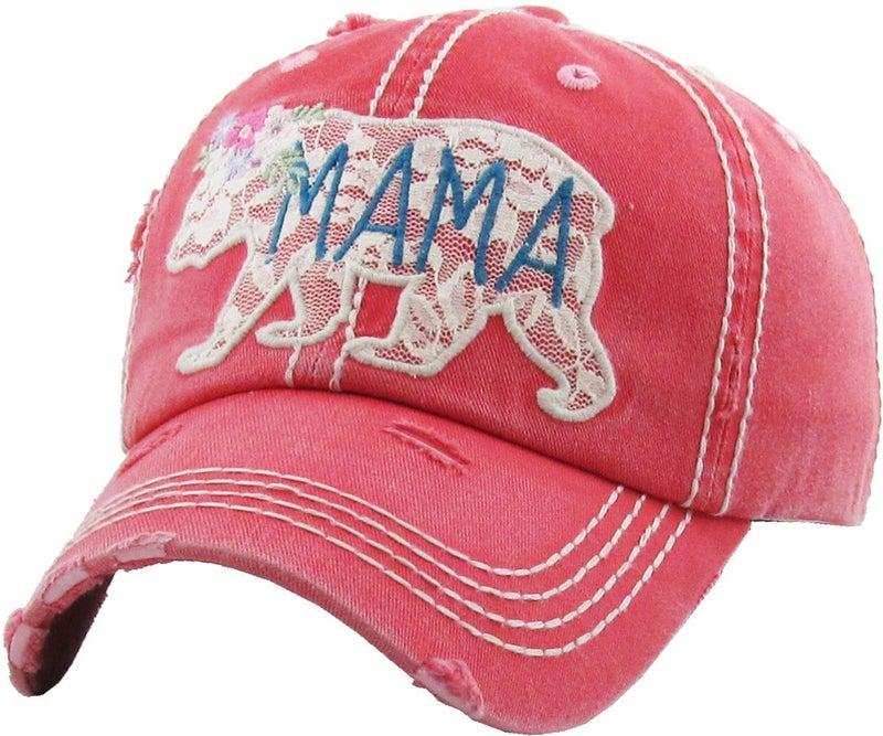 MAMA BEAR VINTAGE BALLCAP HAT