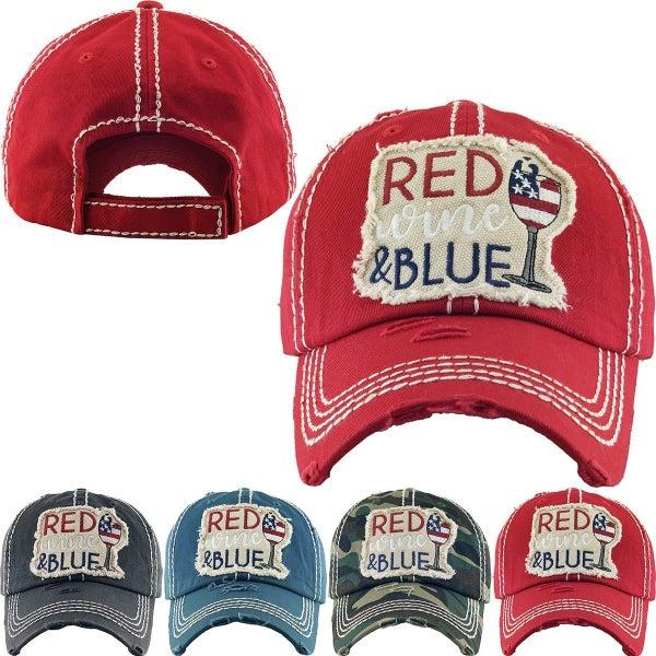 RED WINE & BLUE VINTAGE BALLCAP