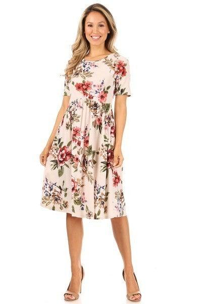 CHRIS & CAROL FLORAL PRINT DRESS