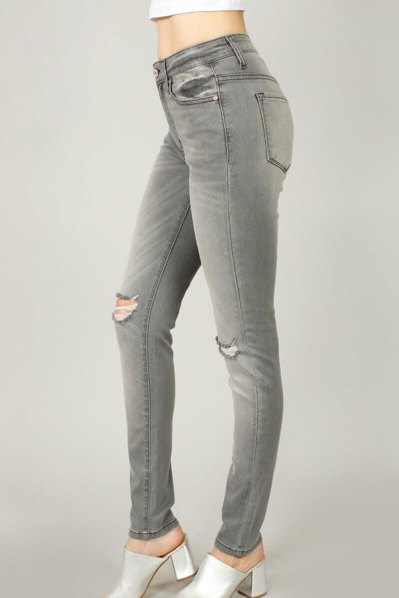 KanCan  High Rise Super Skinny Jean Grey Wash
