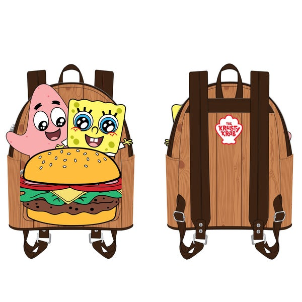 LOUNGEFLY SPONGEBOB CRABBY PATTY GROUP MINI BACKPACK (PRE-ORDER, JUNE 2021)