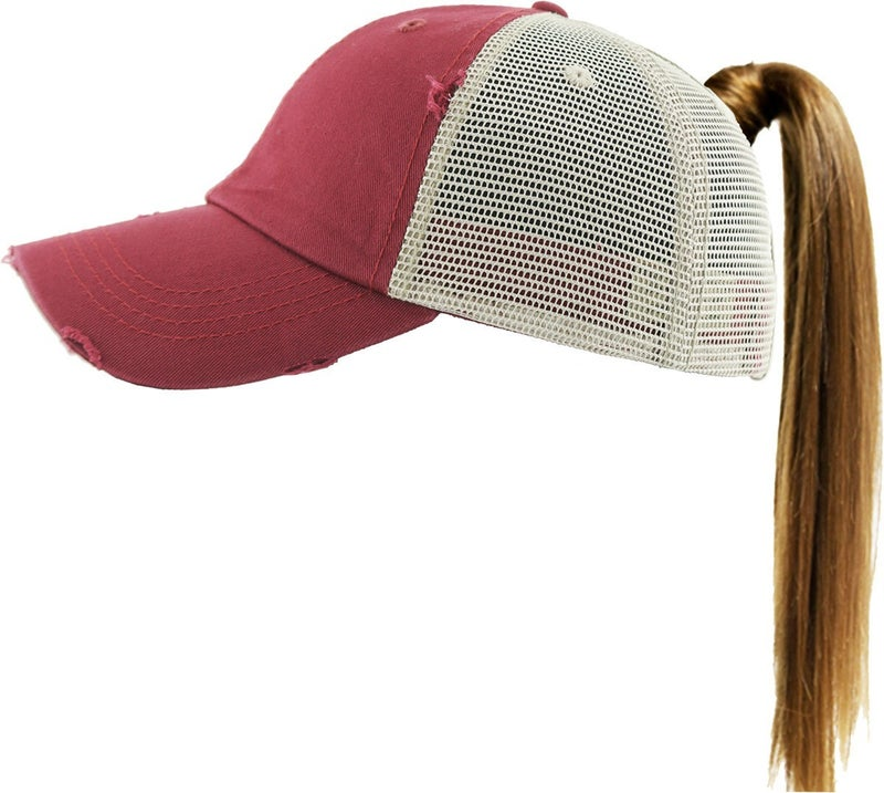 PONYTAIL MESH BACK CAP HAT