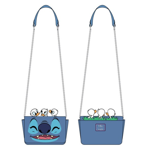 LOUNGEFLY DISNEY LILO AND STITCH STORY TIME DUCKIES CROSSBODY BAG (PRE-ORDER, JUNE 2021)