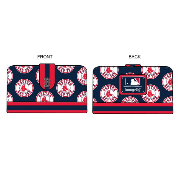 LOUNGEFLY MLB BOSTON RED SOX LOGO WALLET (PRE-ORDER, JUNE 2021)