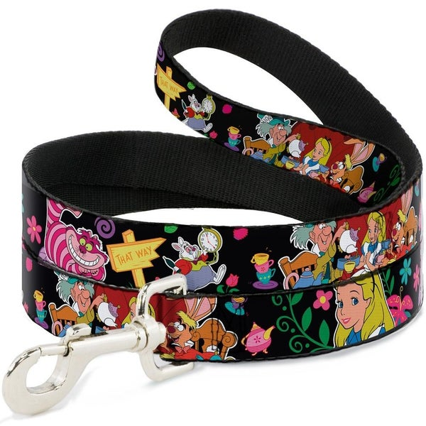 BUCKLE DOWN DOG LEASH - ALICE'S ENCOUNTERS IN WONDERLAND
