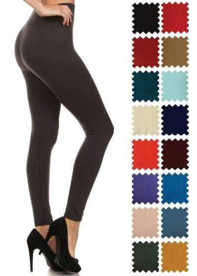 SOLID FLEECE LEGGINGS