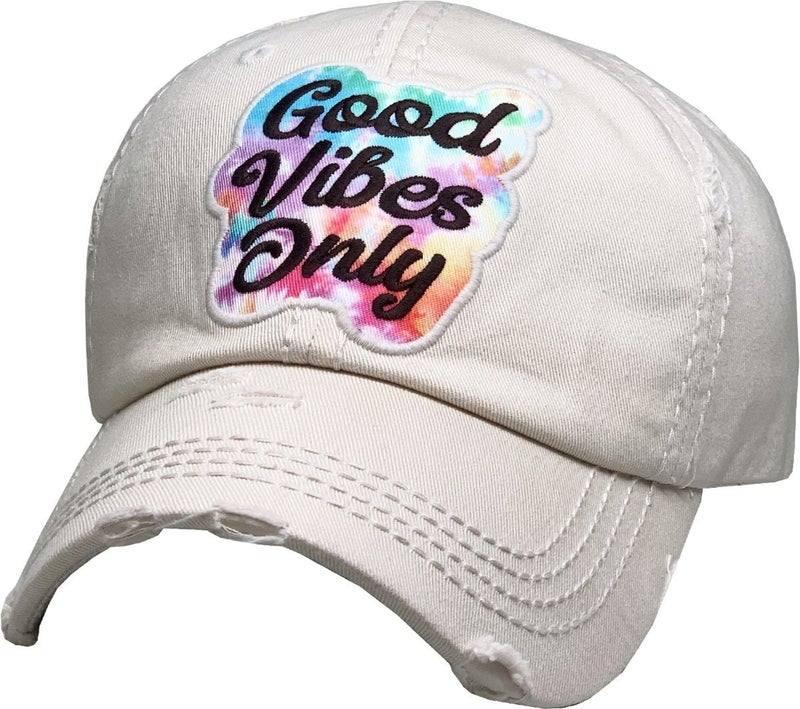 GOOD VIBES ONLY VINTAGE BALLCAP