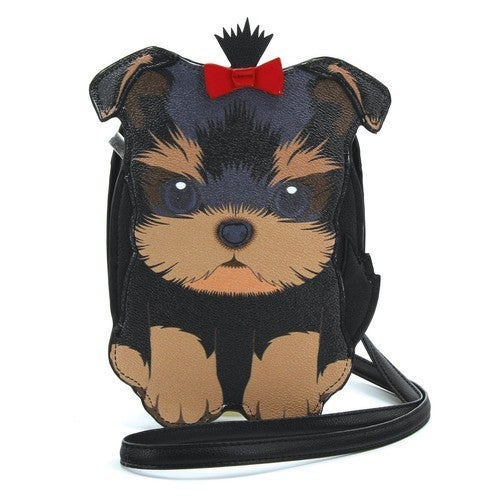 Yorkie Cross Body Bag in Vinyl Material
