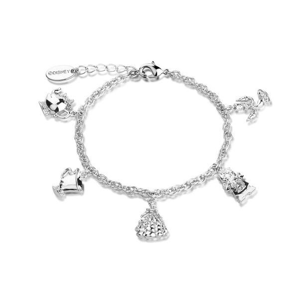 COUTURE KINGDOM Disney Beauty and the Beast Charm Bracelet - WHITE GOLD