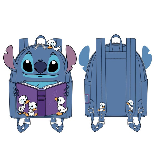 LOUNGEFLY DISNEY LILO AND STITCH STORY TIME DUCKIES MINI BACKPACK (PRE-ORDER, JUNE 2021)