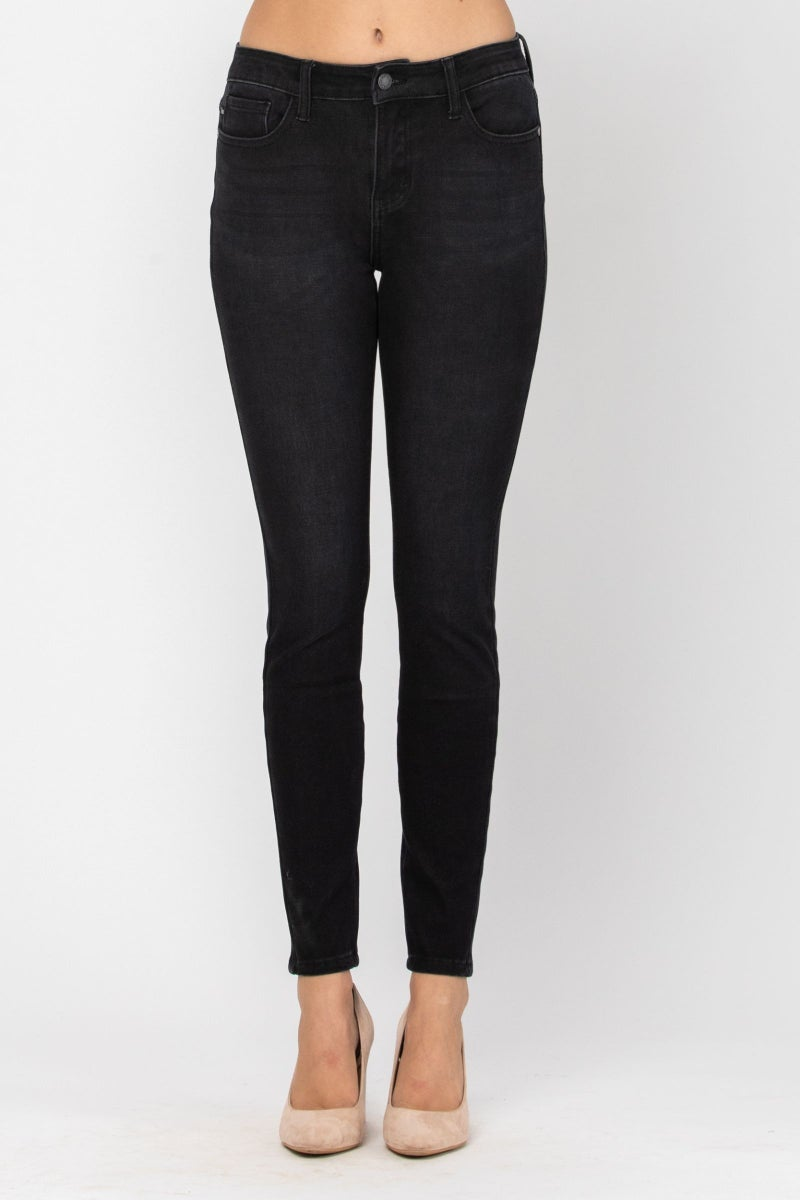 JUDY BLUE THERMADENIM THERMAL BLACK SKINNY