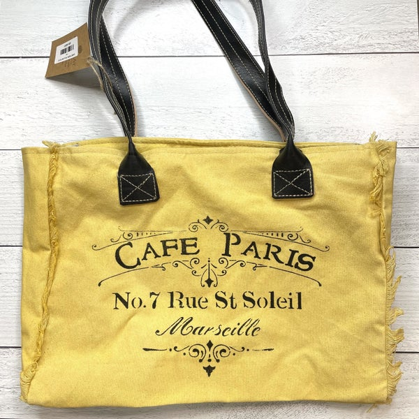 CARE PARIS YELLOW TOTE