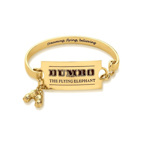 COUTURE KINGDOM Disney Dumbo Circus Ticket Bangle - YELLOW GOLD