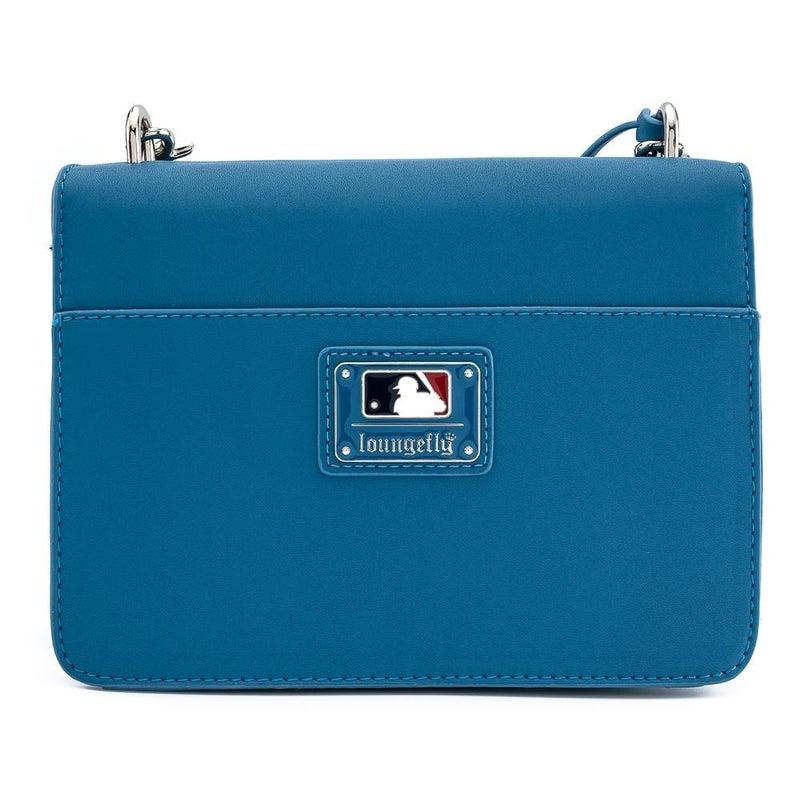 LOUNGEFLY X MLB LA DODGERS BLUE AOP POCKET CROSS BODY BAG