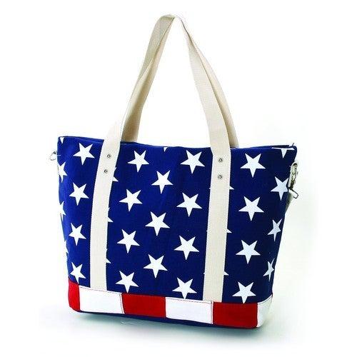 Stars and Stripes USA Flag Canvas Tote Bag