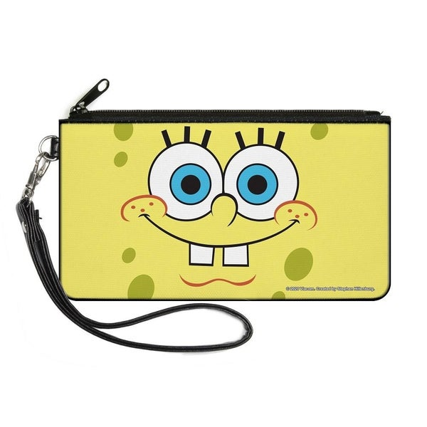 BUCKLE DOWN CANVAS ZIPPER WALLET - SPONGEBOB FACE CLOSE-UP YELLOWS