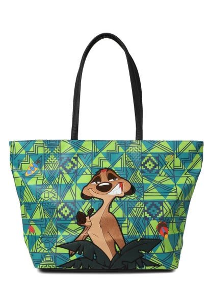 DANIELLE NICOLE TIMON & PUMBA LION KING TOTE BAG