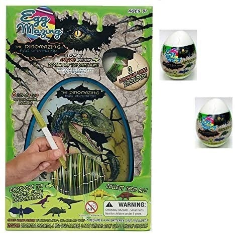 DinoMazing Egg Decorator with 2 Additional Dino Eggs