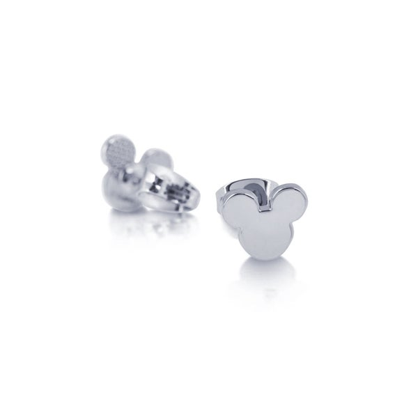 COUTURE KINGDOM MICKEY MOUSE STUD EARRINGS - WHITE GOLD