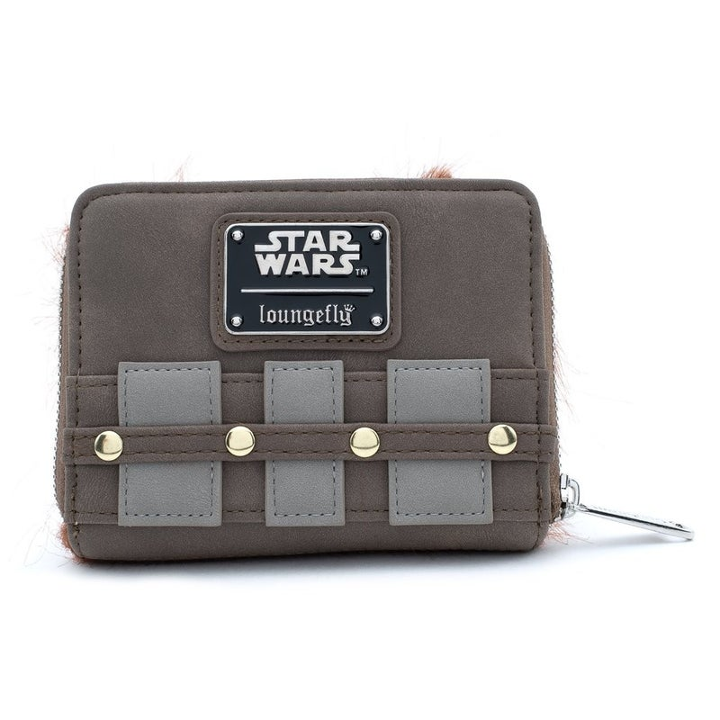 LOUNGEFLY X STAR WARS CHEWBACCA COSPLAY ZIP AROUND WALLET