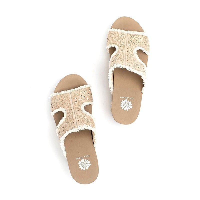 YELLOWBOX BACHIKO WEDGES - CREAM