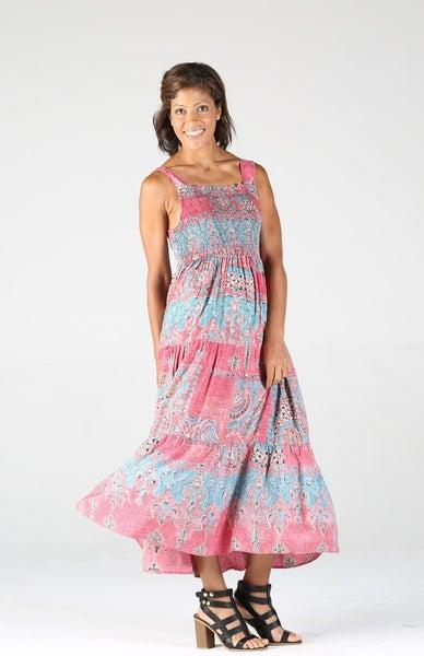 PATCHWORK SLEEVELESS DRESS
