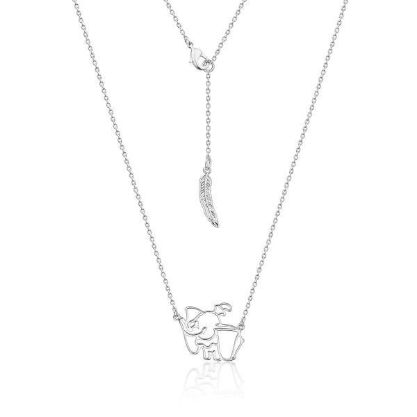 COUTURE KINGDOM DISNEY DUMBO OUTLINE NECKLACE - WHITE GOLD