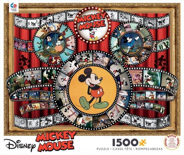 DISNEY 1,500 PIECE PUZZLE - MICKEY FILMS
