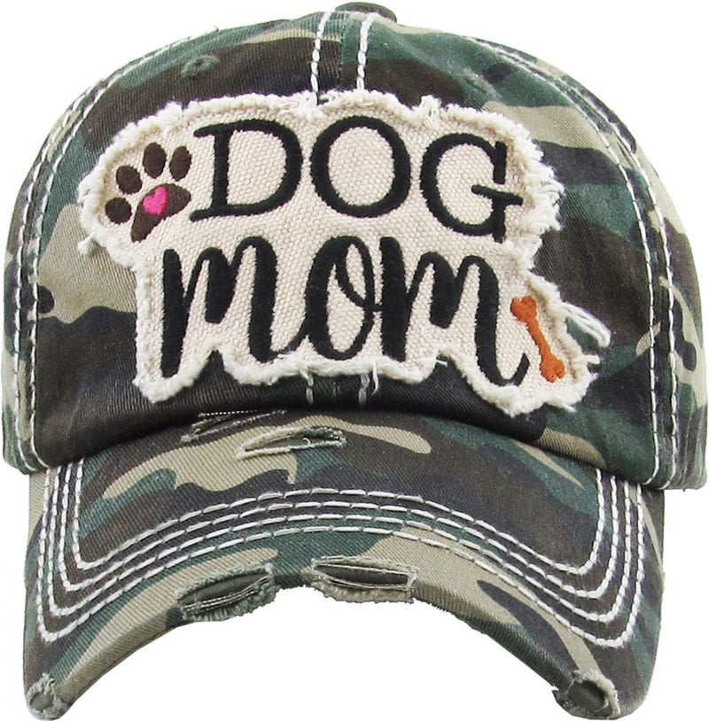DOG MOM VINTAGE BALLCAP HAT