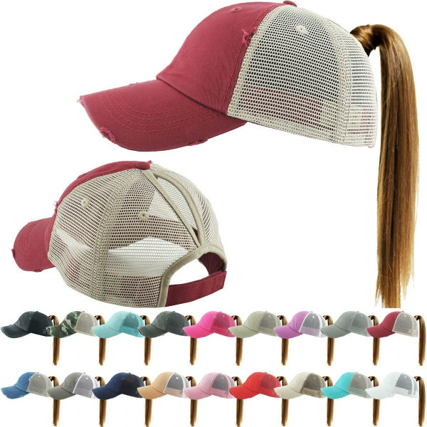PONYTAIL MESH BACK CAP HAT